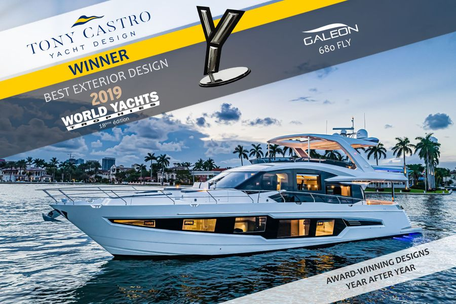 Tony Castro  wins 'Best Exterior Design' Award at Monaco Yacht Show