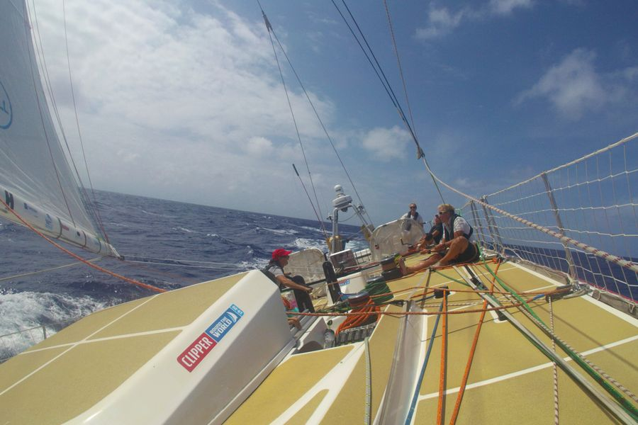 Wind gusts and wind holes on Clipper Round The World Race