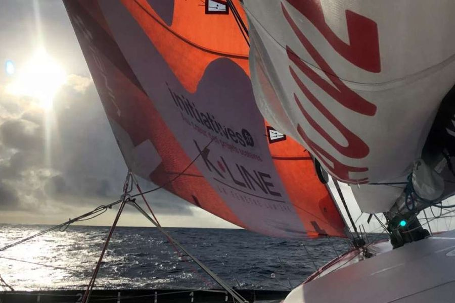 Transat Jacques Vabre fleet seeking trade winds off the coast of Morocco