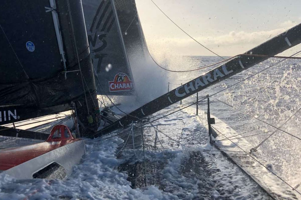 Transat Jacques Vabre, three Multi50s and top eleven IMOCA fly in the trade winds