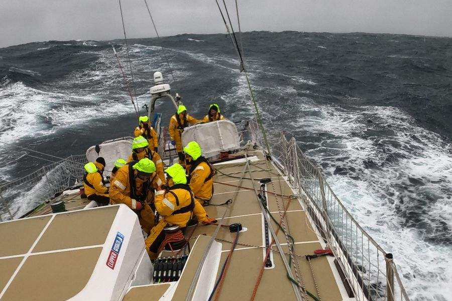 Squalls, Sails and Hail for Clipper Race fleet