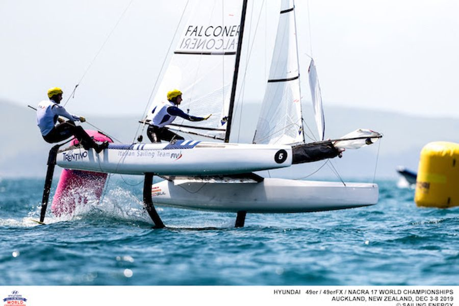 Day two of the 2019 Hyundai 49er, 49erFX and Nacra 17 World Championships
