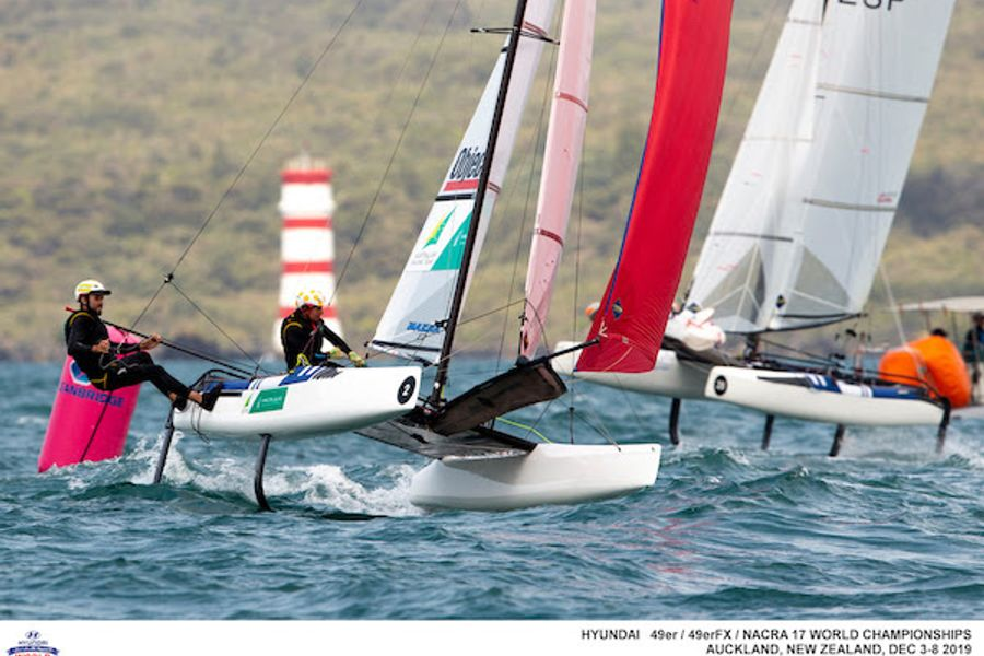 49er Worlds: Day 1 of the Gold Fleet finals sees the pressure mount
