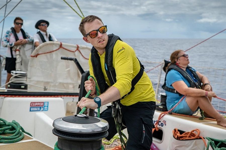 Clipper Race:  Storm Clouds Squalls And Sunshine