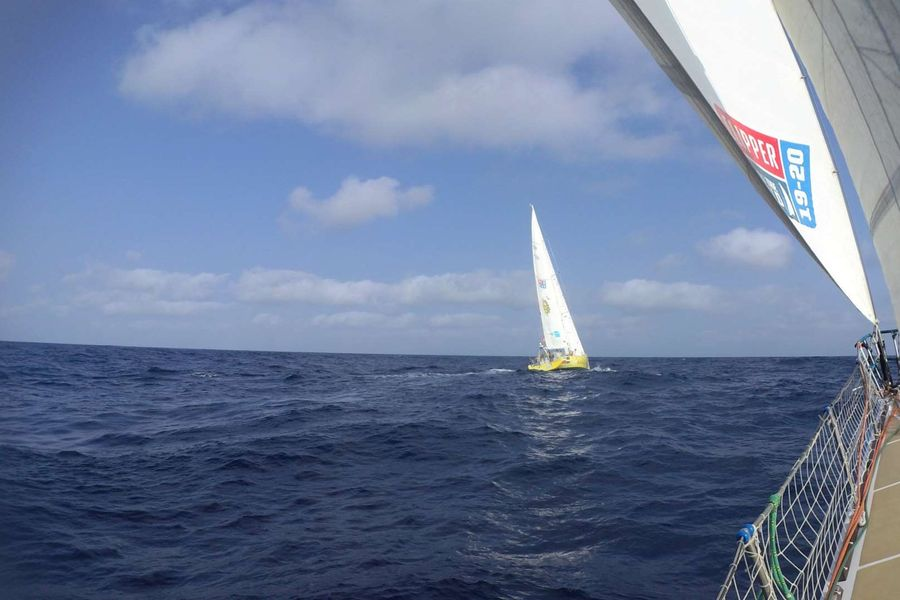 Clipper fleet patience being tested by wind holes plaguing progress