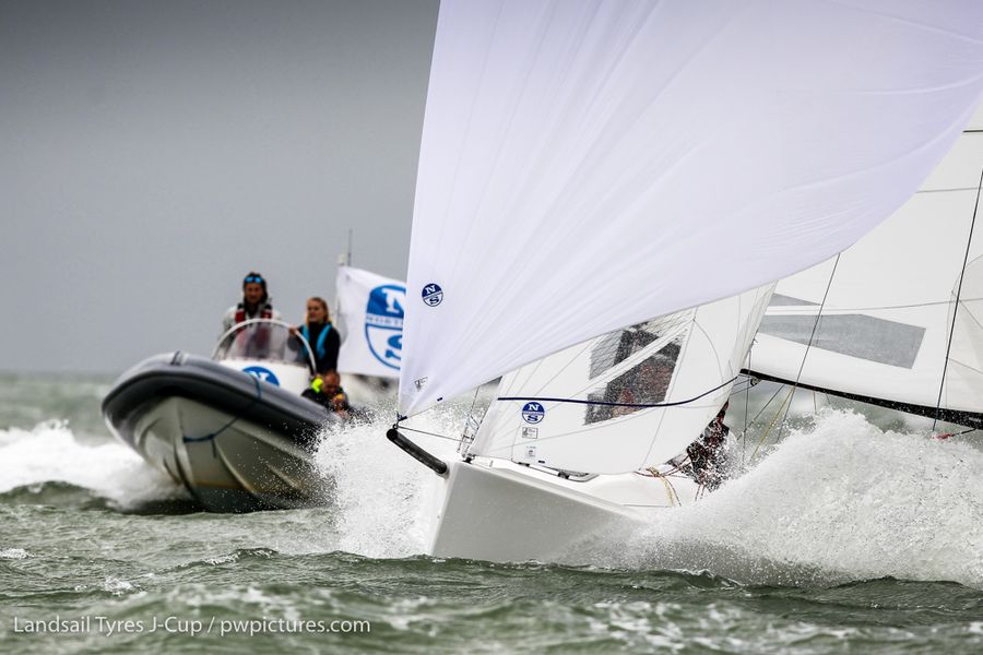 Lighter winds and sunshine on Day Two of the Landsail Tyres J-Cup