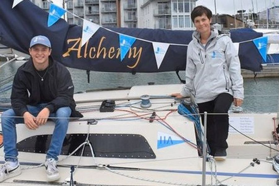 15 y-old Timothy Long sails around Britain solo raising money for cancer charity