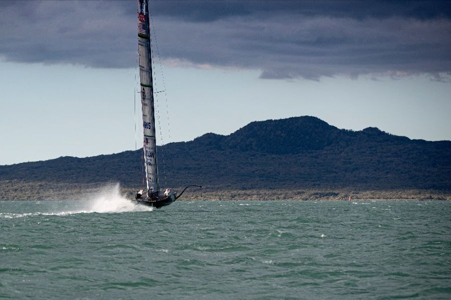 American Magic Challenger PATRIOT Completes First Sail In Auckland