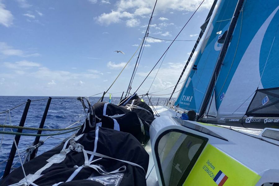 Vendee Globe top three plot best route down the South Atlantic