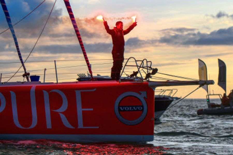 Romain Attanasio, PURE-Best Western,  finishes 14th in the Vendée Globe
